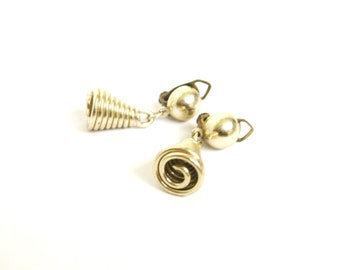 Vintage Spiral Clip-On Earrings