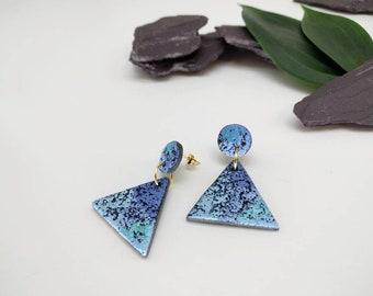 Summer Earrings - Sky Blue Earrings - Handmade Earrings - Unique Designer Earrings - Gift for Her - Gift for Mom