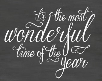 Most wonderful time christmas wall decal DB367