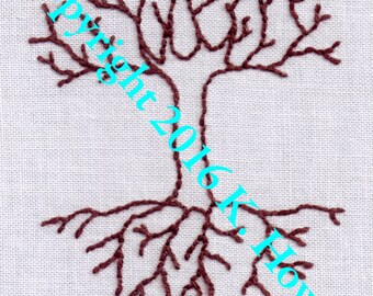 Tree Hand Embroidery Pattern, Tree of Life, PDF
