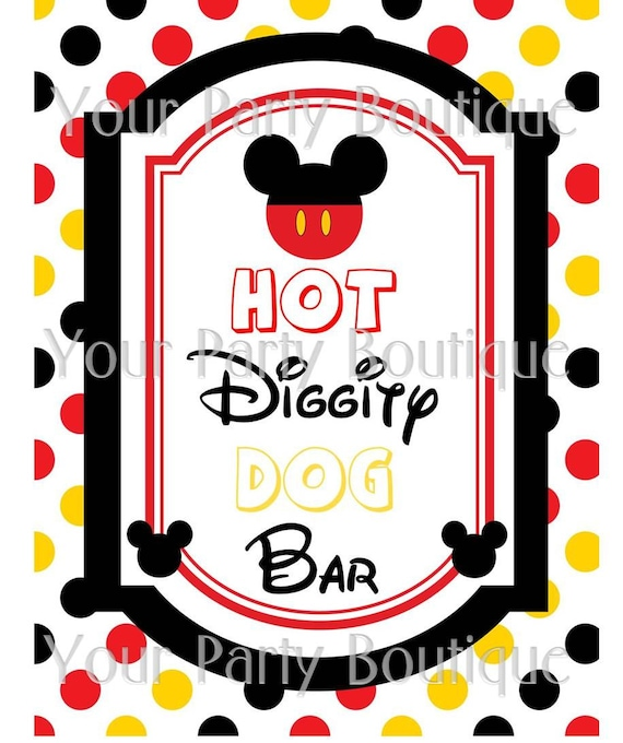 Image Result For Mickey Mouse Diggity Dog Bar Sign