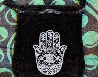 VELVET POUCHES Paint Stamped