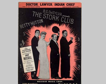 Doctor, Lawyer, Indian Chief - Sheet Music from The Stork Club - a 1945 Paramount Movie