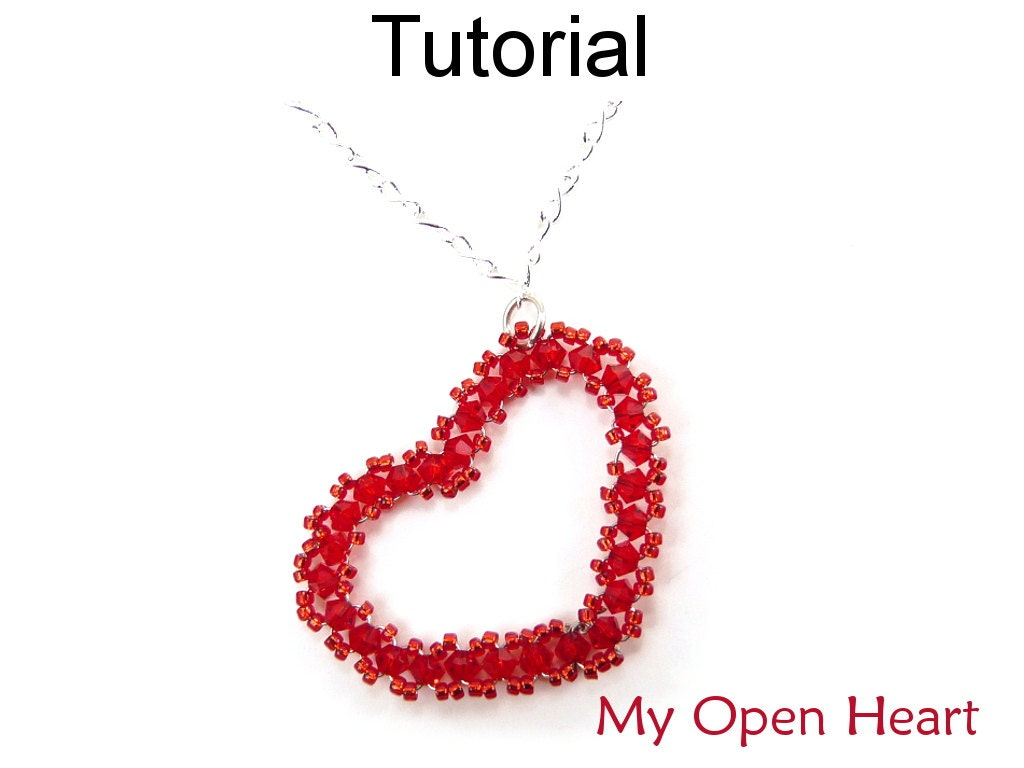 Beading tutorials and patterns beaded heart pendant necklace beading tutorials and patterns beaded heart pendant necklace wire working jewelry making simple bead patterns my open heart 3770 aloadofball Image collections