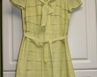 Vintage Betty Hartford Yellow Sheath Dress - spring, summer, luncheon wear,