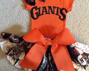 San Francisco Giants-SF Giants-Giants Onesie-Giants Skirt-Giants-Giants Headband-Giants Baseball-MLB-Baseball Party-Birthday Girl