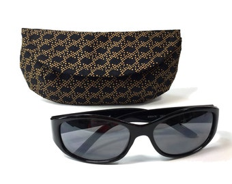 Sunglass case or eyeglass case black and gold sunglasses case mini clutch eyeglass holder black sunglass case glasses case for sunglasses