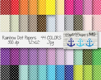 Small Dot Papers Clip Art - 44 jpg 300dpi - Digital Borders - Digital Frame Clip Art - FREE Small Commercial Use! - Digital Download