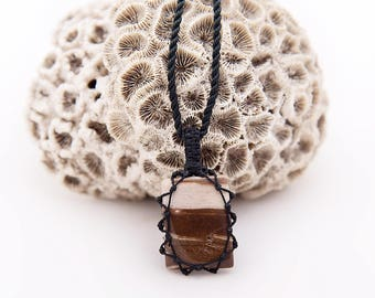 Little Gifts, Men Natural Necklace, Jasper Jewelry, Small Stone Necklace, Zen Necklace, Pendant On Necklace, Surfer Jewelry, Ethnic Necklace