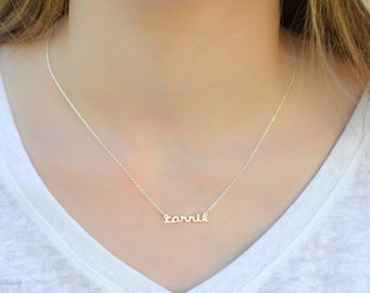 Dainty name necklace - dainty necklace - tiny name necklace - Personalized necklace - Tiny necklace -Baby Necklace -Bridesmaid Gift