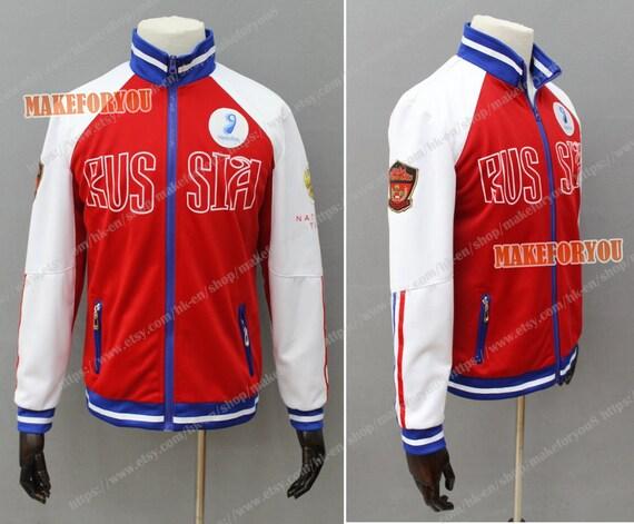 Women's Yuri ice Mila Cosplay Costume Jacket ba6oN