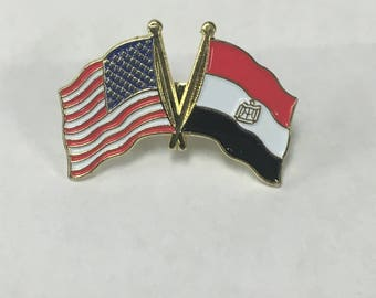 Egypt and America Duo Flag Pin