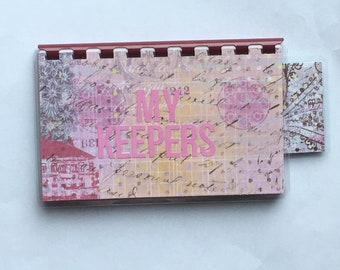 Handmade Pink 'My Keepers' Blank Recipe book for Personal Recipes