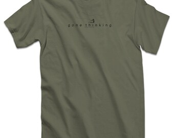 Fly Fishing Gear Fly Fishing Trout Shirt Fly Fishing Fishing Shirt Fishing Gift for Dad Trout Fishing Fly Fisherman - Gone Thinking Fly