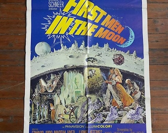 Vintage, First Men In The Moon, Movie Poster