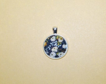 Silver Medallion - flower of Japan