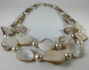 Seashell • Two Strand • Bib Necklace • Gifts for her • Soul Forge Designs