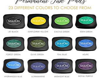 StazOn Permanent Ink Pads | Rubber Stamp Pad | 23 Colors to Choose From