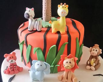 Jungle Birthday, Safari Decoration, Jungle Animals, Safari Birthday Party, Baby Animals Toppers, Jungle Decorations, Jungle First Birthday