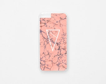 iPhone 6 Case - Pink Marble iPhone Case - Pink iPhone 6s Case - Hard Plastic or Rubber