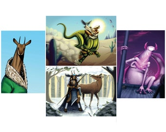 Strange Creature Design Poster Prints