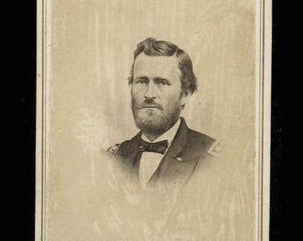 Original 1860s CDV Photo of Civil War General US Grant