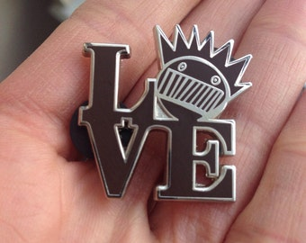Brown Ween Boognish Love pin