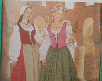 Butterick 6196 Medieval sewing pattern NEW sizes 12-14-16
