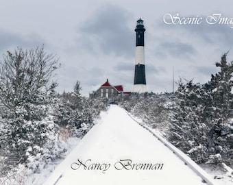 Winter wonderland at Fire Island Lighthouse