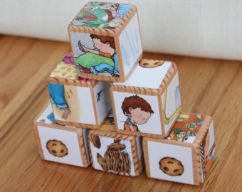 6 If You Give A Mouse A Cookie Wooden Blocks