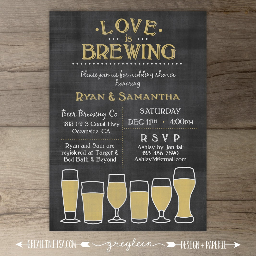 Ideal Love is Brewing Wedding Shower Engagement Party XM39