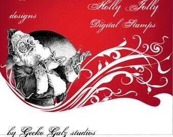 Holly Jolly Digital Stamp Set