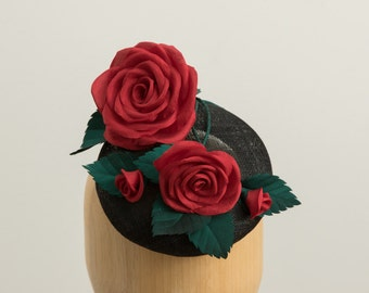 Red Rose button