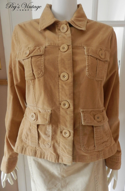 b5194dac16389 Vintage Tan Beige Corduroy Short Jacket Size Junior XL   16