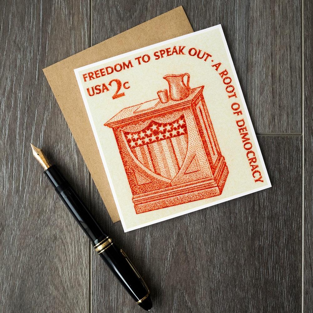 libertad del discurso tarjetas de cumpleaños del político