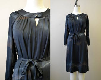 1970s Mynette Black Dress