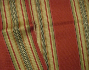 Olive Green Berry Wool Stripes Upholstery Designer Fabric Sample 180473H Highland Court