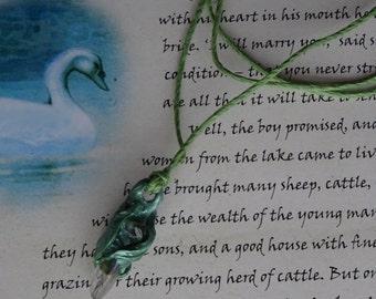 Elven Blessing ~ Titanium Quartz & Quartz Gemstone Fairy Pendant