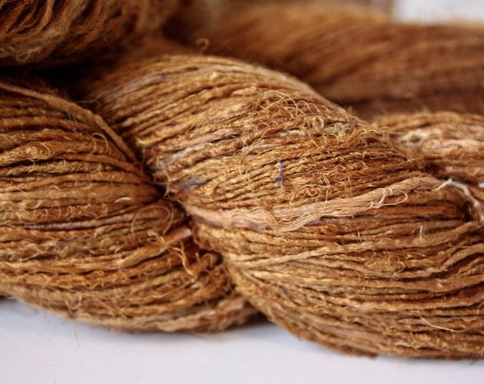 Handspun Recycled Mulberry Silk - Rust