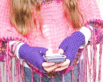 Fingerless Glove Crochet Pattern – Country Market Collection – Crochet Mitts – Reversible – Homemade Christmas Gift Ideas