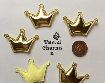 Pack of 10 padded gold crowns