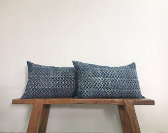 "12"" by 20"" Set of 2 Vintage Hmong Hill Tribe Lumbar Cushion Covers Ethnic Batik Thai"