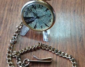 Advertising pocket / pendant watch, with Chain from Servomex