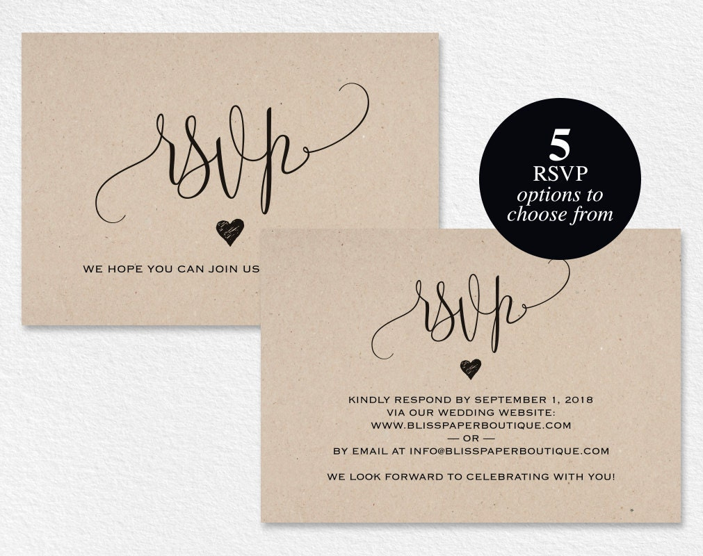 sample rsvp cards for wedding