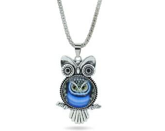 Owls Necklace,Sleepy Owl Pendant Necklace,Owl Jewelry Necklace,Owl Pendant Necklace,Teen Jewelry