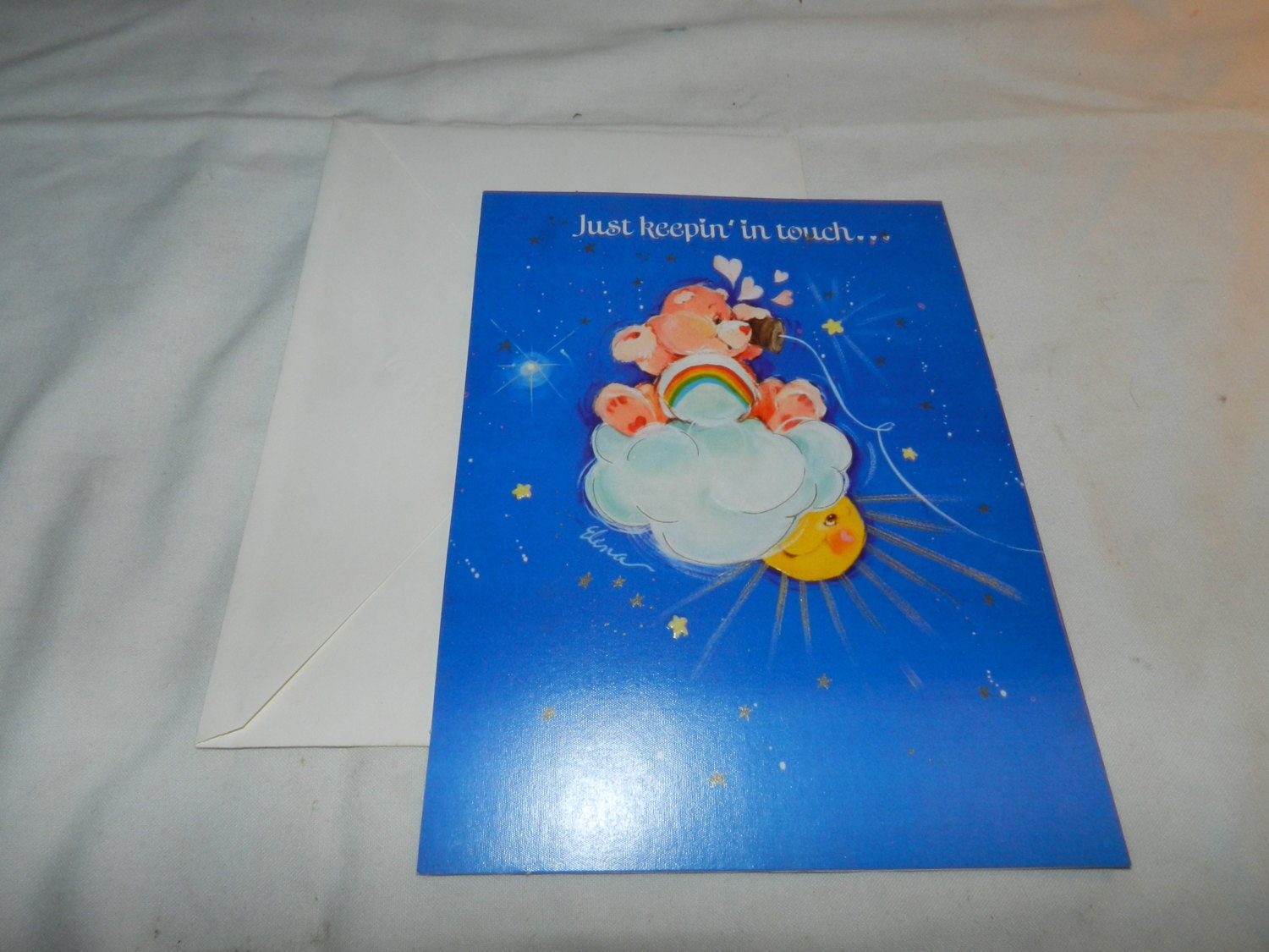 Just Keepin In Touch Care Bears Greeting Card Unused
