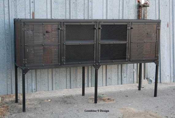 with rack large industrial storage buffet wood wine rustic products liquor finish distressed hutch cabinet