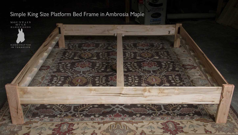 AMBROSIA MAPLE SIMPLE Platform Bed Frame Custom Made of