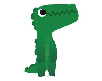 Crocodile - Temporary Tattoo (Set of 1)