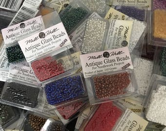 Mill Hill Glass Beads, Antique Glass Beads, and Petite Glass Beads
